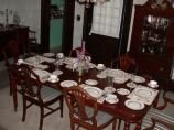 The Trumans ate their formal evening meals in the dining room of their home.