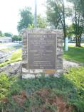 Original 1867 section marker for the Solomon Young Farm, Grandview, Missouri. Located at the corner of Martha Truman and Grandview Roads.