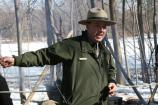 Ranger Assisting Visitors at Maple Sugar Time