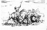 Buffalo Hunt on the Snake River, illustration by James Mulcahy V107-000181