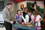 Ranger Helps Family with an Exhibit