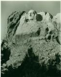 the first attempt at Thomas Jefferson on Mount Rushmore