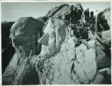 top view of Mount Rushmore during the carving