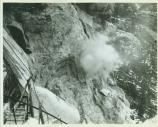 blasting of Abraham Lincoln sculpture on Mount Rushmore