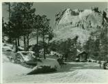 Mount Rushmore in the winter