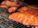 BBQ meat on the grill