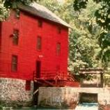 The beautiful red Alley Mill.