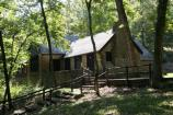 The Dining Lodge at Big Spring was built by the CCC during the Great Depression.