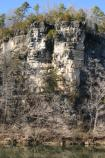 Both rivers are lined with majestic limestone bluffs such as this.
