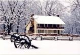 The Elkhorn Tavern after a snow.