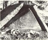 A photo of the grave of Robert Braden, age 2. This is the only visible evidence that the community of Leetown existed at this site. Braden's grave can still be viewed at the Leetown hamlet at the Pea Ridge National Military Park.