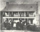 Photo taken of the Cox family circa 1880 outside of the Elkhorn Tavern, well before the battlefield was owned by the National Park Service.