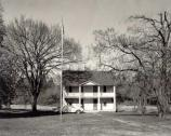 A photo of the park's headquarters building around the time the park became owned by the National Park Service. The headquarters' location was near the assumed location of Pratt's Store, the foundation of which is still visible from the tour road at the park.