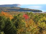 Fall colors around North Bar Lake from the Pierce Stocking Scenic Drive North Bar Lake Overlook.