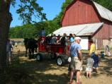 Horse-drawn wagon ride at the Olsen Farm.