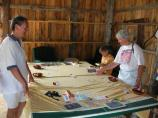 Even adults got into the crafts and games at the Thoreson Farm