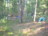 Backcountry camping at White Pine Camp in Platte Plains. Hike about 2 miles to the campground from Trail's End Road parking area.