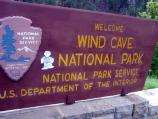 Flat Stanley arrives at Wind Cave National Park and has his picture taken at the park entrance sign. Many visitors to the park do this.