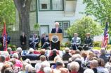 President Clinton speaking at the opening of President William Jefferson Clinton Birthplace Home National Historic Site.