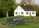 Cannons representing Confederate artillery that was positioned across from the Dunker Church.