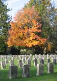 Antietam National Cemetery with fall colors