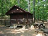 Exterior view of Cabin 31 in Camp Misty Mount.