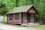 Exterior view of cabin 35 in Camp Misty Mount.