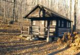 Exterior view of cabin 51 in Camp Misty Mount.