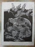 Block print by Nancy Haver, 2014 Catoctin Mountain Artist-in-Residence,