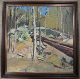 Oil Painting by Edmond Praybe, 2013 Catoctin Mountain Artist-in-Residence,