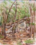 Oil Painting by Olin Nave, 2010 Catoctin Mountain Artist-in-Residence,