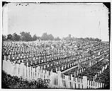Alexandria National Cemetery was established in 1862. By 1864 the cemetery was filled, leading to the establishment of Arlington National Cemetery.
