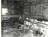 Interior view of gutted Ford's Theatre during 1960 reconstruction.