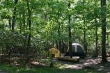 a picture of two tents in the greenbelt park campground