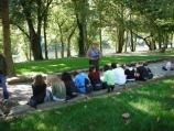 Park ranger presents educational program
