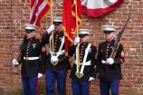 Marine Color Guard at the John Brown Fort during the 150th commemoration.