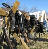 Soldiers' supplies. Scenes from Capt. Flagg's US Quartermaster City: Approach of Peace 1864 Event, Dec. 3-4, 2011. NPS Photo