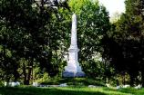 The oblelisk located within Groveton Confederate Cemetery