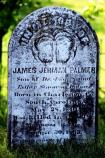 The grave marker of James Jermain Palmer of the Palmetto Sharpshooters, killed at Second Manassas.
