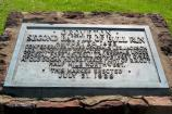 The Second Manassas marker, placed on the battlefield by the United Daughters of the Confederacy in 1928.