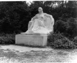 Historic photograph of the Serenity statue.