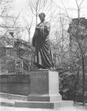 Historic photograph of the Dante statue.