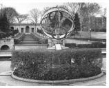 Historic photograph of the Armillary Sphere at the foot of the cascades.