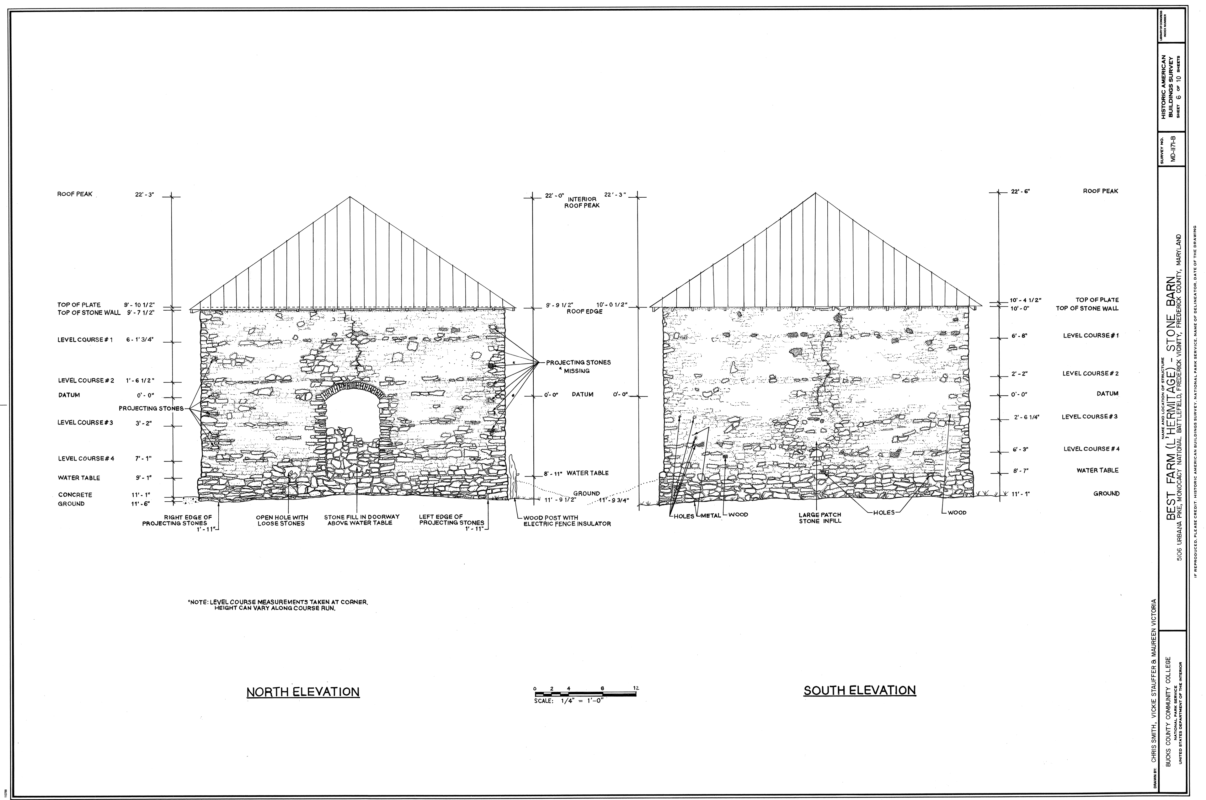 Stone Elevation Drawing : Photo gallery u s national park service