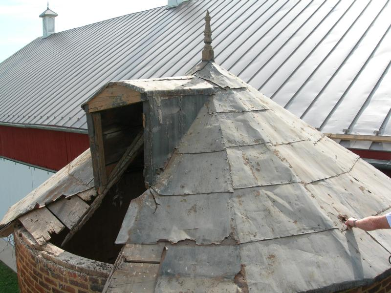 Awesome 13) Silo Roof Prior To Restoration