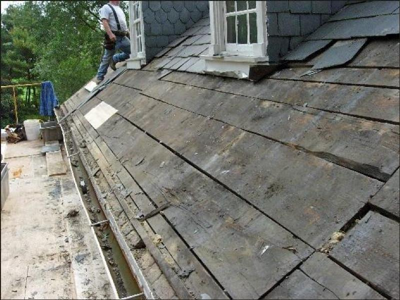 Photo gallery u s national park service for Roof sheathing material