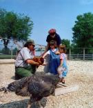 Feeding the chickens (and turkey) at Oxon Cove Park, National Capital Parks - East.