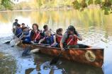 National Capital Parks-East Rangers teamed up with Wilderness Inquiry to lead canoe trips up the Anacostia River.