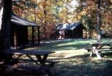 Camp Orenda in the Fall. Also known as Cabin Camp 3, it is available for individual and group cabin camping.