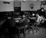 The OSS recruits in Area C (Communications Branch) learned to code and decode messages.